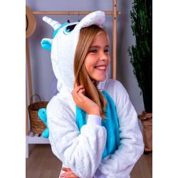Пижама кигуруми Единорог Пегас голубой (рост 65-190 см) для детей и взрослых