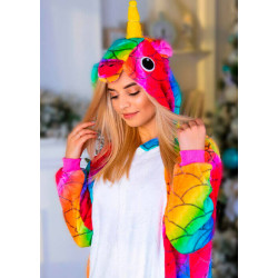 Пижама кигуруми Единорог Чешуйчатый (рост 65-190 см) для детей и взрослых