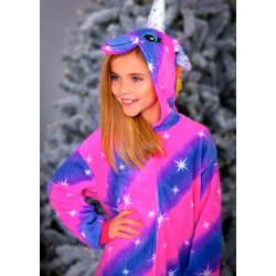 Пижама Кигуруми Единорог Галактический (рост 65-190 см) для детей и взрослых