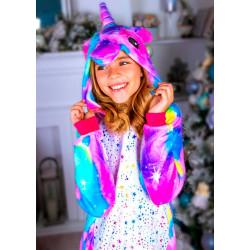 Пижама кигуруми Единорог Искорка (рост 65-190 см) для детей и взрослых