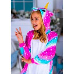 Пижама кигуруми Единорог Полосатый (рост 65-190 см) для детей и взрослых