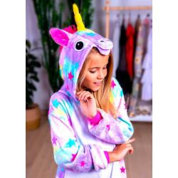 Пижама кигуруми Единорог Звездный (рост 65-190 см) для детей и взрослых