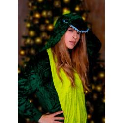Пижама кигуруми Зелёный дракон (рост 65-190 см) для детей и взрослых