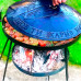Сковорода мангал Садж (40, 50, 60 см) на высоких ножках с подставкой для костра
