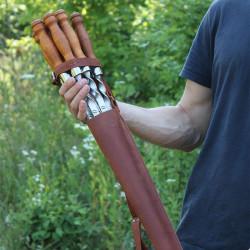 Кожаный чехол для шампуров (от 550-720 мм.) + возможность нанести гравировку