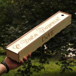 Тубус для шампуров (550мм.) с гравировкой