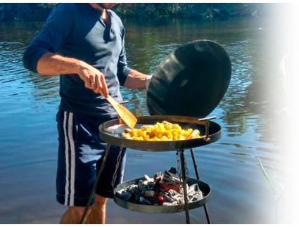 Сковороды из диска для приготовления пищи на огне