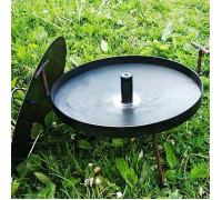 Сковорода мангал (40см) с крышкой и отверстием для быстрого приготовления походная